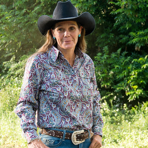 Brigalow Ladies PAISLEY Western Shirt