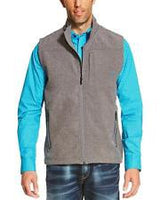 ARIAT Mens CHARCOAL HEATHER LOGO SOFTSHELL VEST