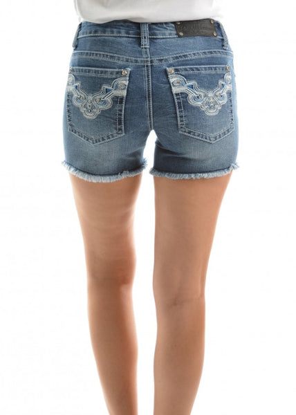 Pure Western ASHA Ladies Denim Shorts