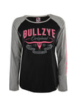 Bullzye Women's Hard Fast Long Sleeve Raglan Tee
