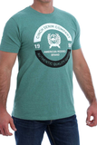 Cinch Mens Green Logo Tee