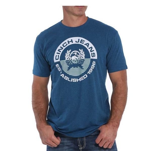 Cinch Men's Round Logo Navy T-Shirt