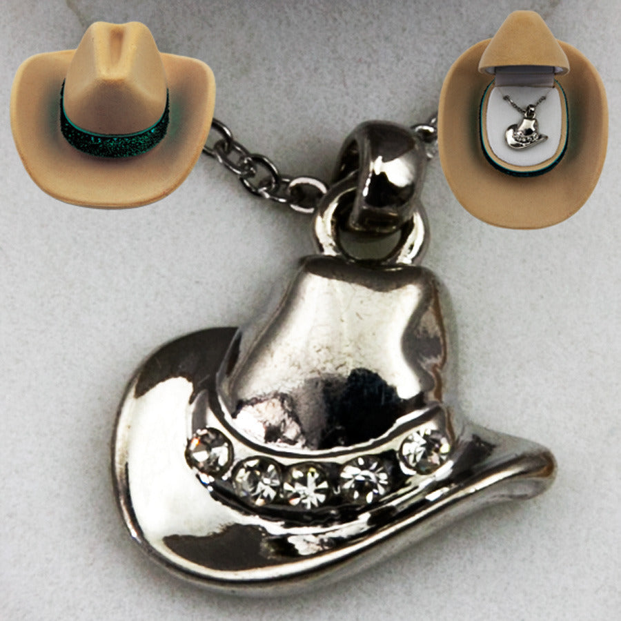 Brigalow Cowboy Hat Necklace and Stud Earring