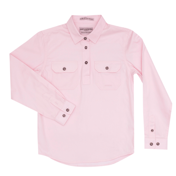 Just Country Kenzie Workshirt Girls Pink
