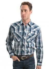 Pure Western Men's Preston Check L/S Shirt