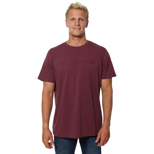 Maroubra Mens Loose T-Shirt - Port