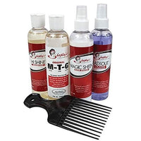 SHAPLEY'S Grooming Kit Containing Easy-Out, Magic Sheen, Hi Shine, Original MTG & Super Tail Pick