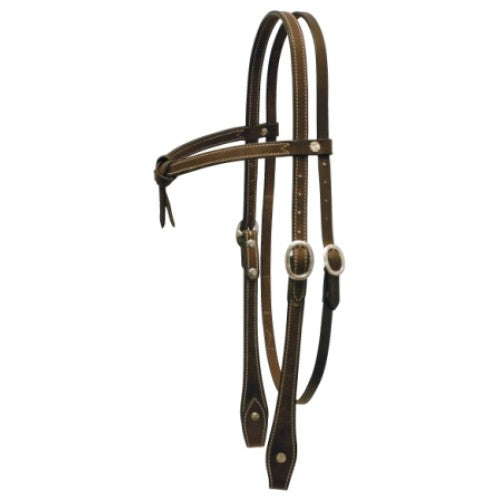 Texas-Tack Knotted Brow Headstall