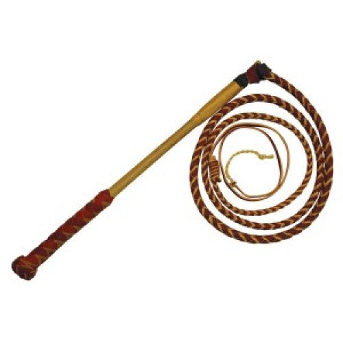 Stockmaster Redhide Yard Whip - 4 Plait