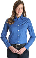 Wrangler Ladies George Strait Shirt Blue