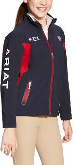 Ariat Youth New Team Softshell Jacket Navy