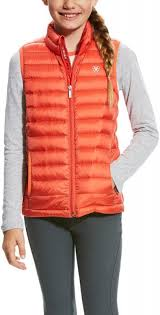 Ariat Girls Ideal Down Vest Calypso Coral