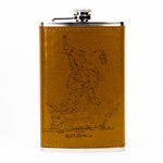 Flask 10oz - Leather