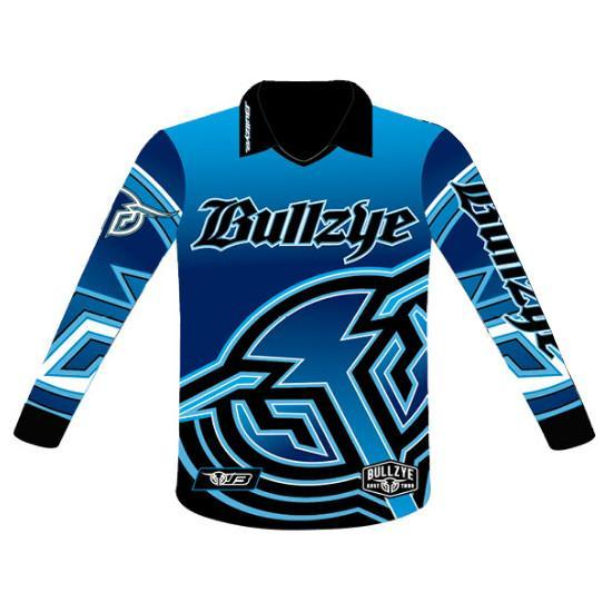 Bullzye Mens Fishing Shirt Blue