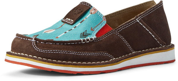 Ariat Ladies Cruiser Chocolate Suede/Turquoise Arrow