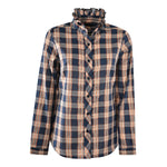 Wrangler Ladies Ellen Check L/S Frill Shirt