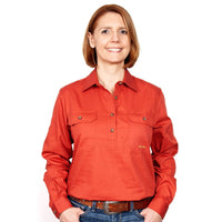 JUST COUNTRY Ladies Work Shirt Rust
