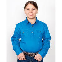 Just Country Kenzie Workshirt Girls Blue Jewel