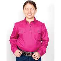 Just Country Kenzie Workshirt Girls Magenta