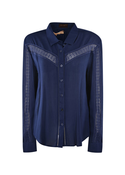Wrangler Ladies Kirby Print L/S Shirt