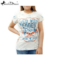Montana West Ladies T Shirt Wild West Rodeo Show