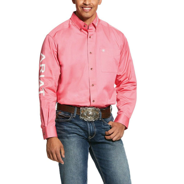 Ariat Mens Ultramarine Embroidered Team Logo Shirt Pink