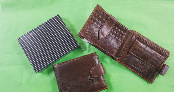 ZENEEBA Leather Mens Wallet Brown