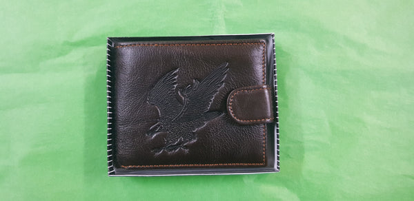 Zeneeba Leather Mens Wallet Eagle