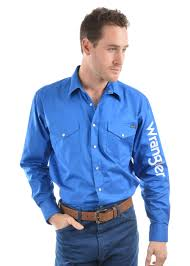 Wrangler Mens LOGO RODEO Western Shirt (4 different Colours)