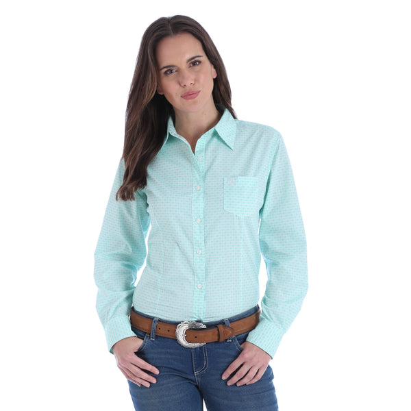 Wrangler Ladies George Strait Shirt Light Green