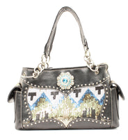 Selena Chevron Sequin Handbag