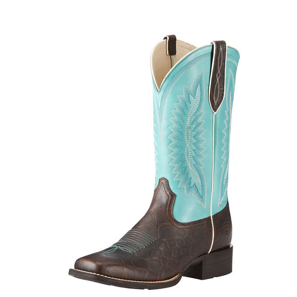 Ariat Women's Quickdraw Legacy Brown Rowdy Croc Print