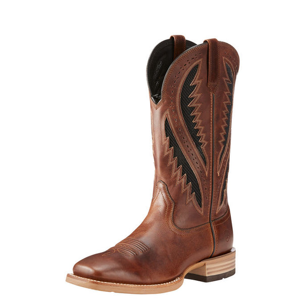 🐎 💖Men's Ariat Quickdraw VentTEK Western Boot Vintage Caramel