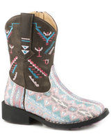 Kids Glitter Azteka Boots, Brown