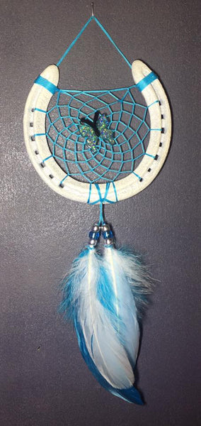 Blue and White Butterfly Dreamcatcher