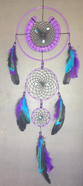 Purple Triple Dreamcatcher