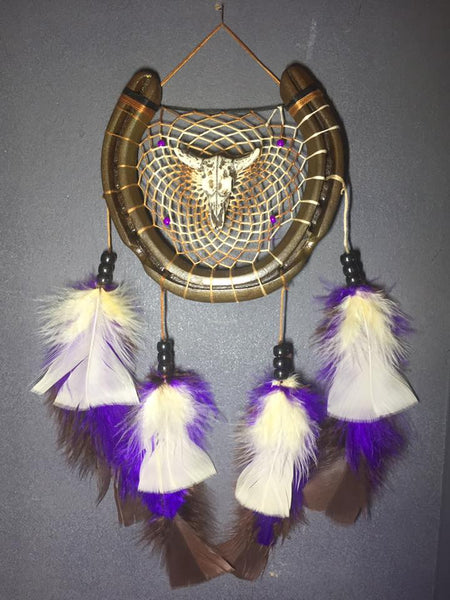 Natural Bull Skull Dreamcatcher