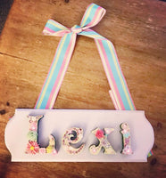 Personalised Name Plaques