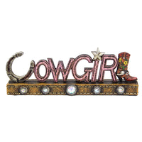 Cowgirl Sign - Free Standing