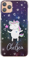 Personalised Galaxy Unicorn Initial Hard Case