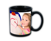 Black right hand photo mug