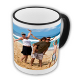 White photo mug- Coloured edge/ handle