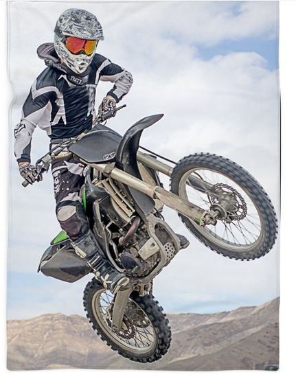 Dirt Bike Rider Blanket- 2