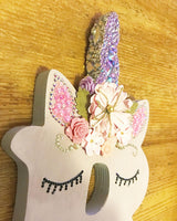 Free standing bling unicorn letters