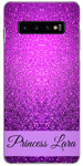 Custom purple glitter case with name