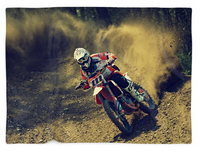 Dirt Bike Rider Blanket