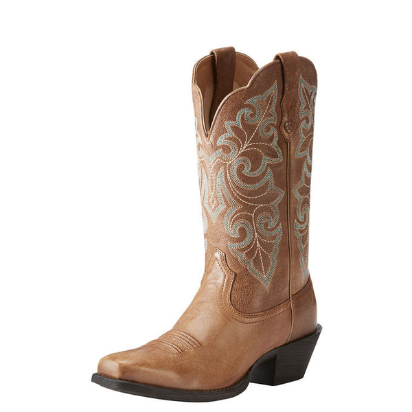 Ariat Round Up Square Toe Wood
