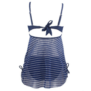Molly Mesh Lace Striped Two-Piece