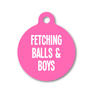 FETCHING BALLS & BOYS