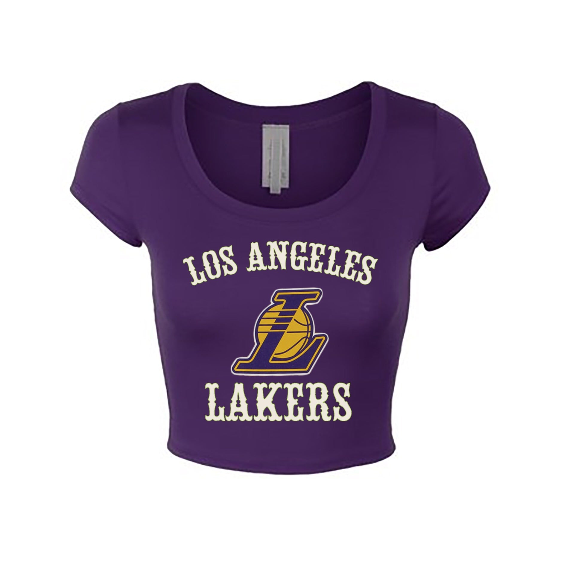 VINTAGE Los Angeles Lakers Crop Top